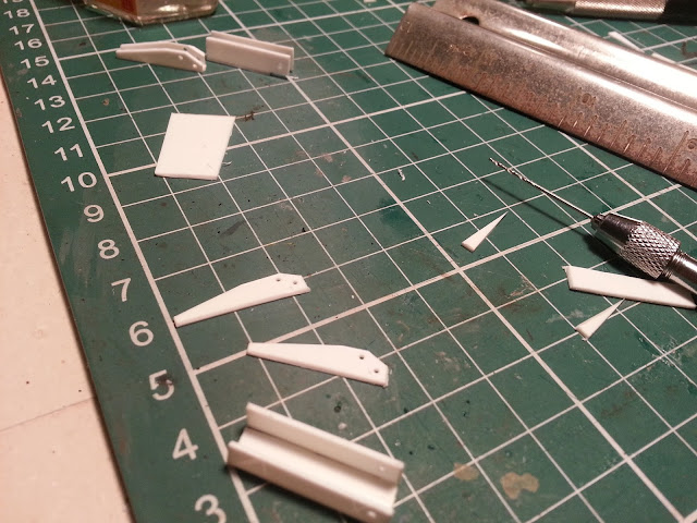 Scratch building hydraulic arms for models