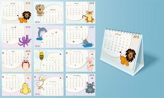 calendario de animales 2019