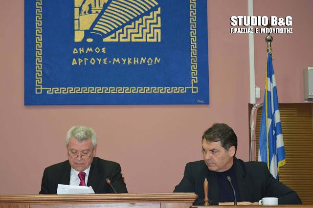Δημοτικό Συμβούλιο στο Άργος με 18 θέματα στις 10 Απριλίου
