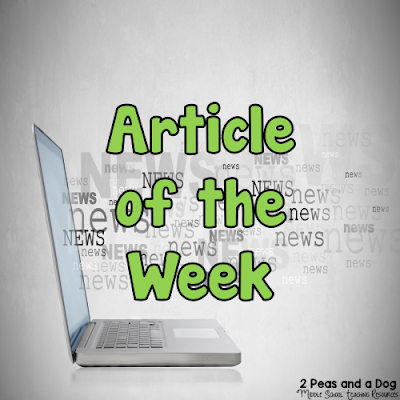Article of the Week is a literacy strategy that helps students closely engage with a text to make meaning and develop background knowledge, as well as practicing reading, writing and critical thinking skills. Teachers assign students a non-fiction article each week to read, and provide time for students to annotate and develop a well-written response. This assignment is great for both English Language Arts teachers as well as content area classes from the 2 Peas and a Dog blog.