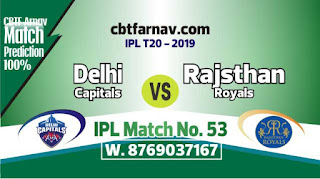 RR vs DC IPL 2019 Prediction 53rd Match Prediction Today Who Will Win