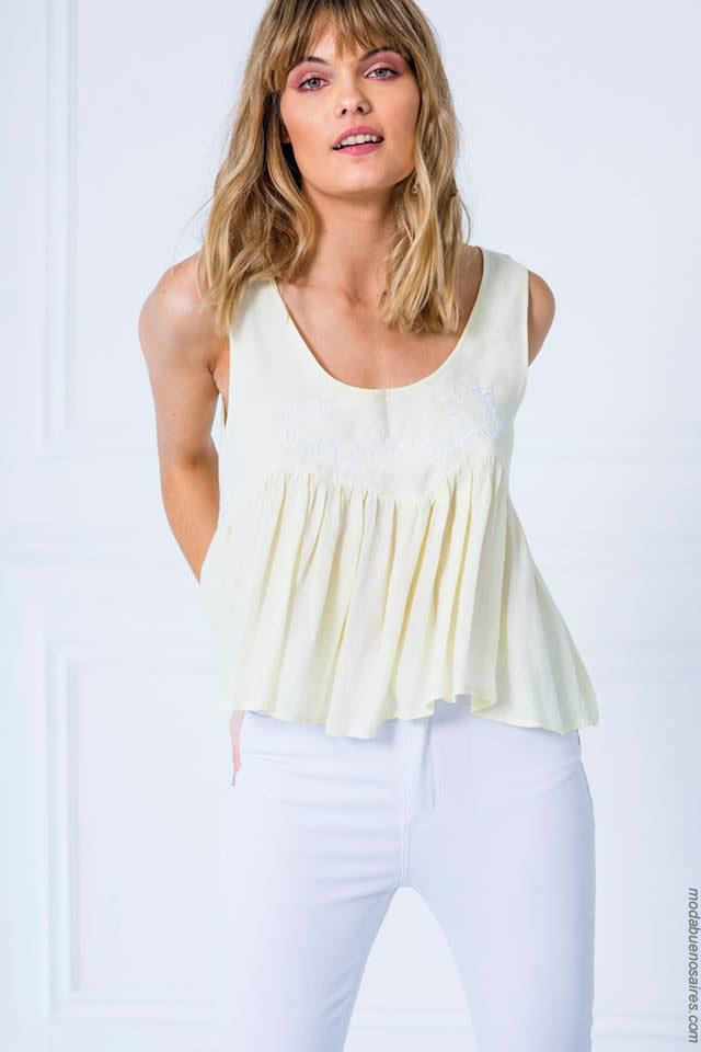 Tops de moda primavera verano 2018. Moda para mujer verano 2018.