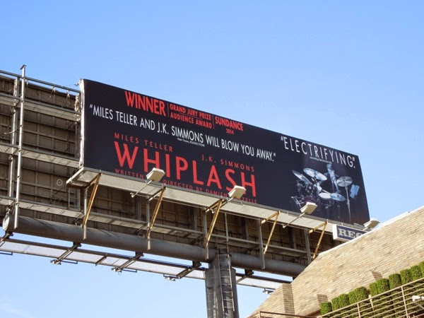 Whiplash movie billboard