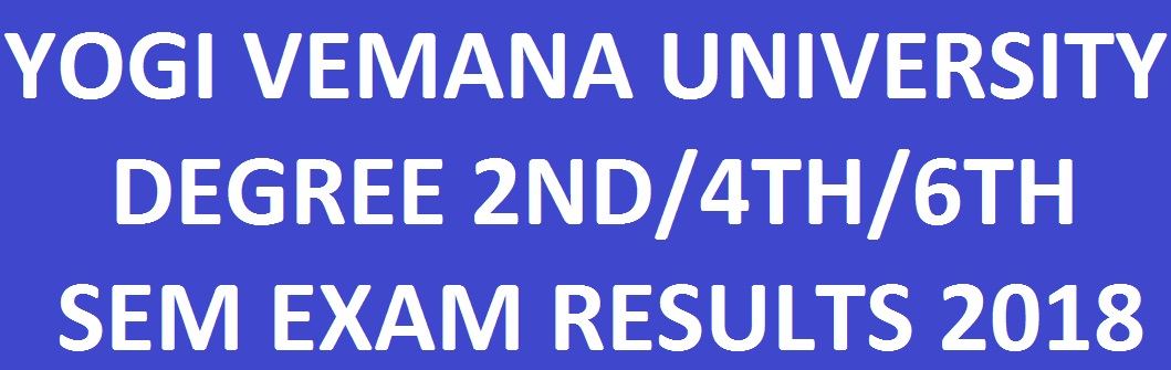 YVU Degree 2nd/4th/6th Sem Results