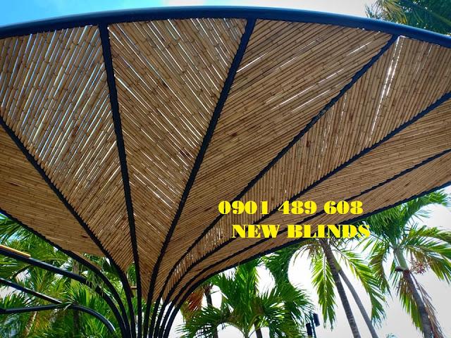 ốp tre trúc trần nhà