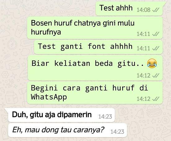 Trik Mengubah Font di Whatsapp iOS dan Android