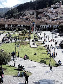 Área da Plaza das Armas  Voltada para a Catedral de Cusco