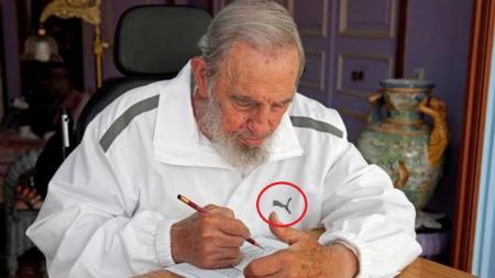 Fidel Castro con un chándal Puma