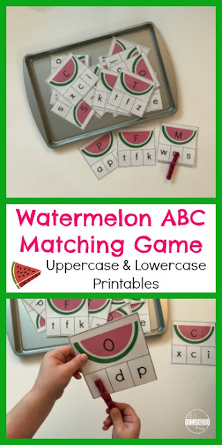 Watermelon Letter Matching Game for Kids