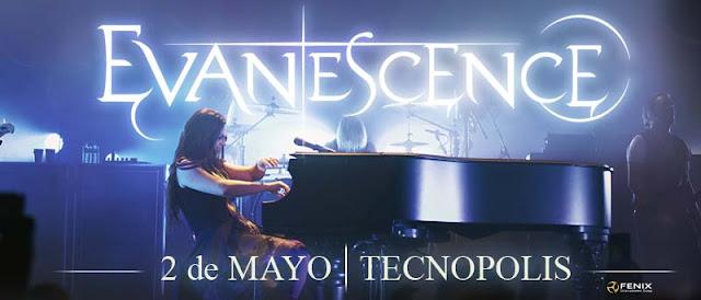 Evanescence brindara un show el 2 de Mayo en Tecnópolis