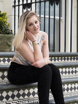 Hannah Bown on Steps
