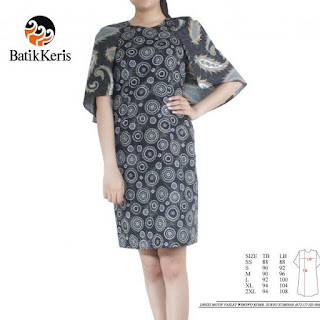 gambar model sackdress batik terbaru