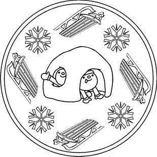 malvorlagen zum ausmalen: malvorlagen winter: winter-mandalas