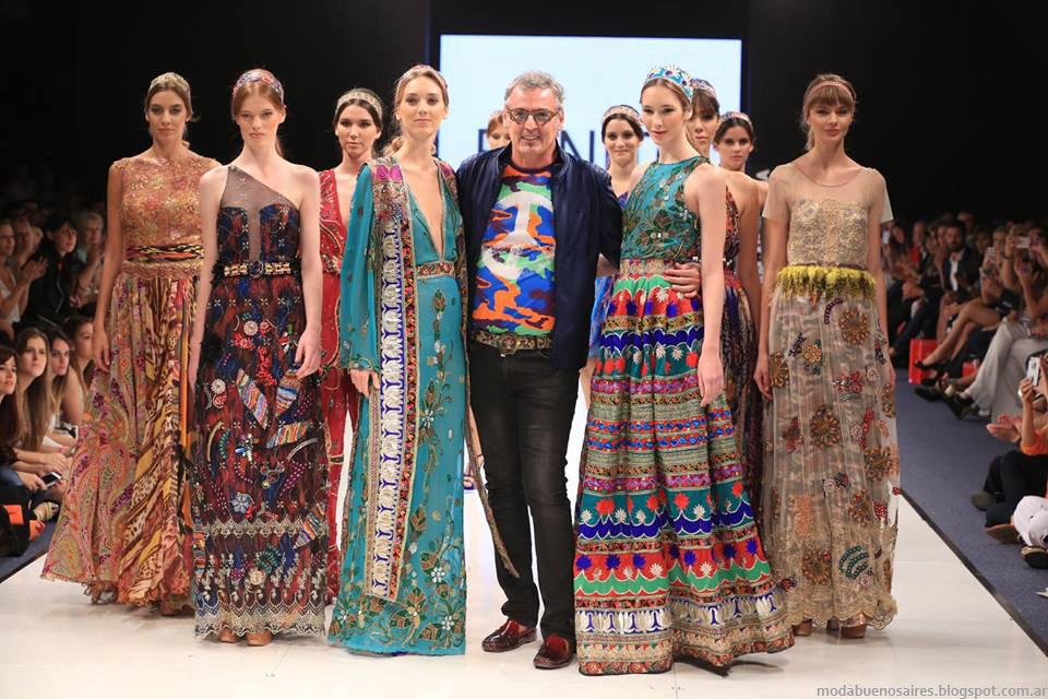 Moda otoño invierno 2015 en Argentina Fashion Week. Vestidos de fiesta otoño invierno 2015 Benito Fernandez.