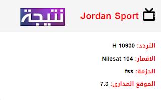 تردد قناة الاردن الرياضية Jordan Sport الجديد 2018 على النايل سات