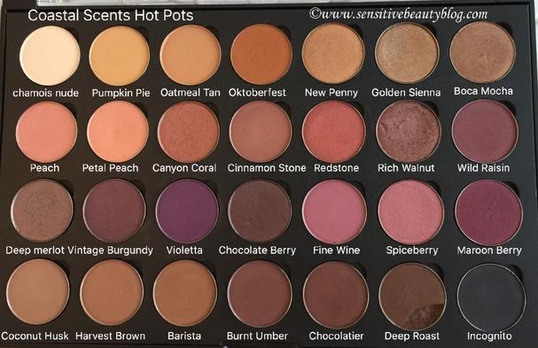 Coastal Scents Hot Pots Customized 28 Pan Palette