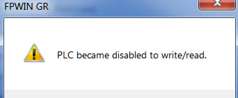 PLC became disabled to write and read