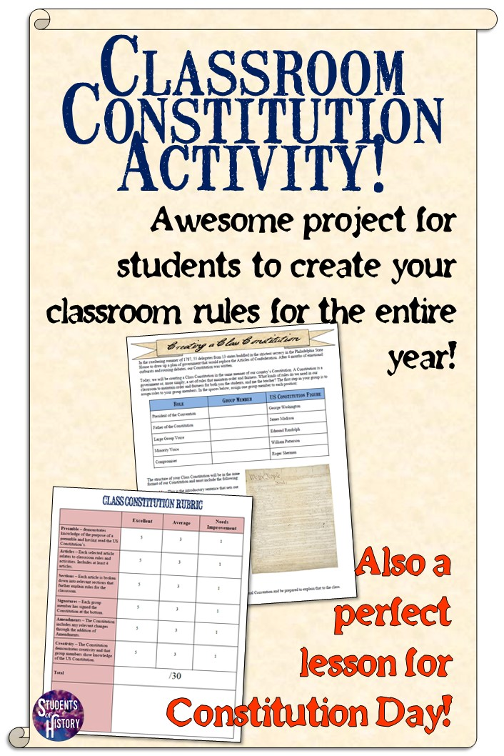 Constitution day lesson plans for high school students