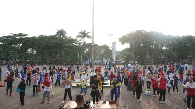Kapolda Banten, Hadiri Senam Bersama Ratusan guru