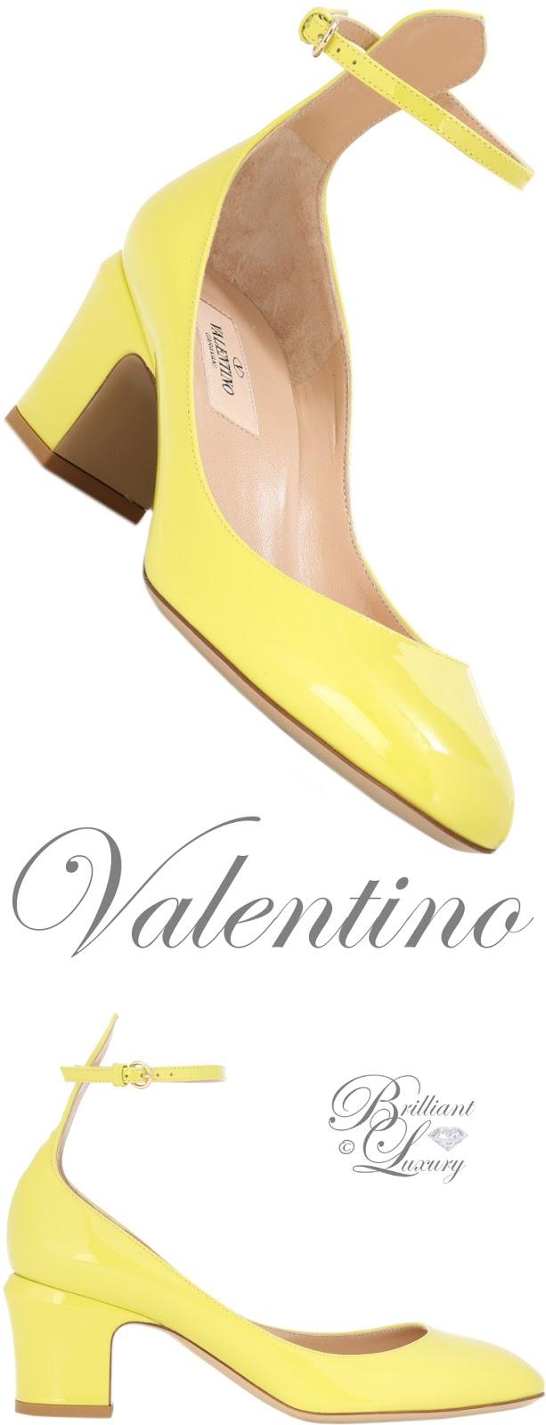 Brilliant Luxury ♦ Valentino Garavani Tango yellow leather pumps