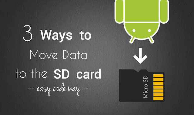 Move data to the SD card in Android