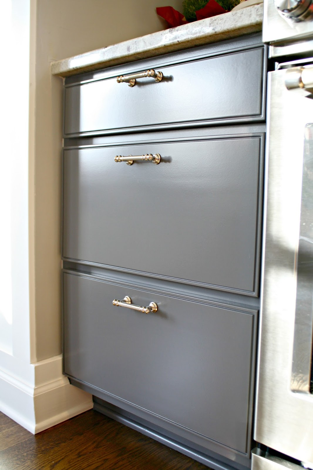 The Painted Cabinets A Month Later From Thrifty Decor Chick