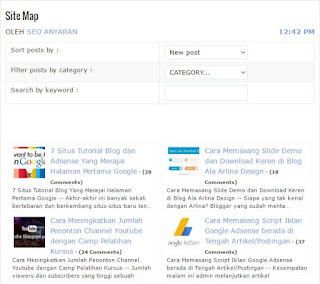 Cara Memasang Sitemap berdasarkan kategori dan kata kunci