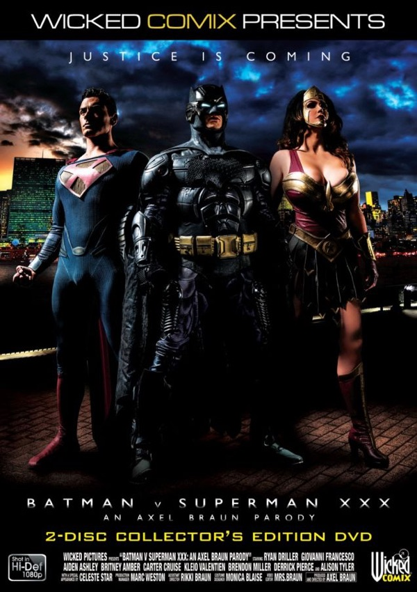 Capa de Batman vs Superman pornô