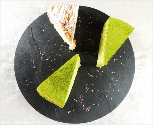 Lady M: Green Tea Mille Crêpes y Gateau Aux Marrons