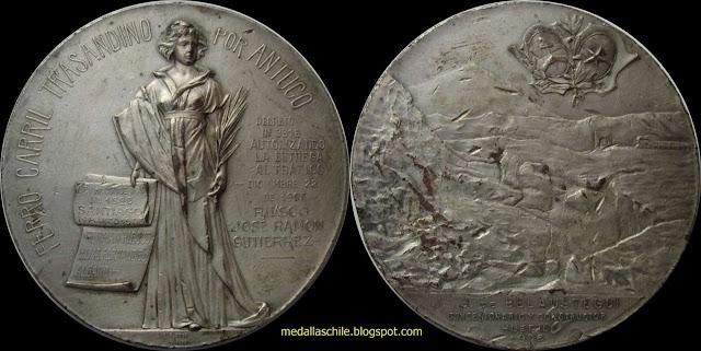 Medalla Tren Trasandino por Antuco