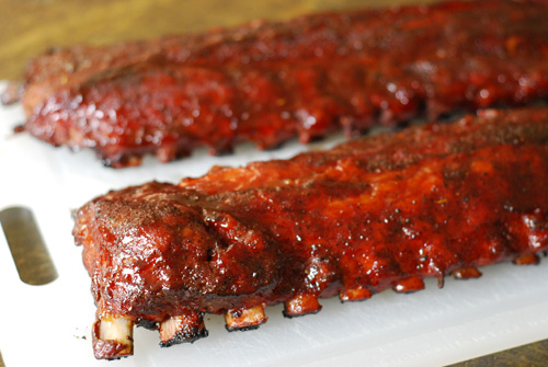 Big Green Egg ribs, BGE ribs,