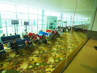 Yangon Airport departure lounge