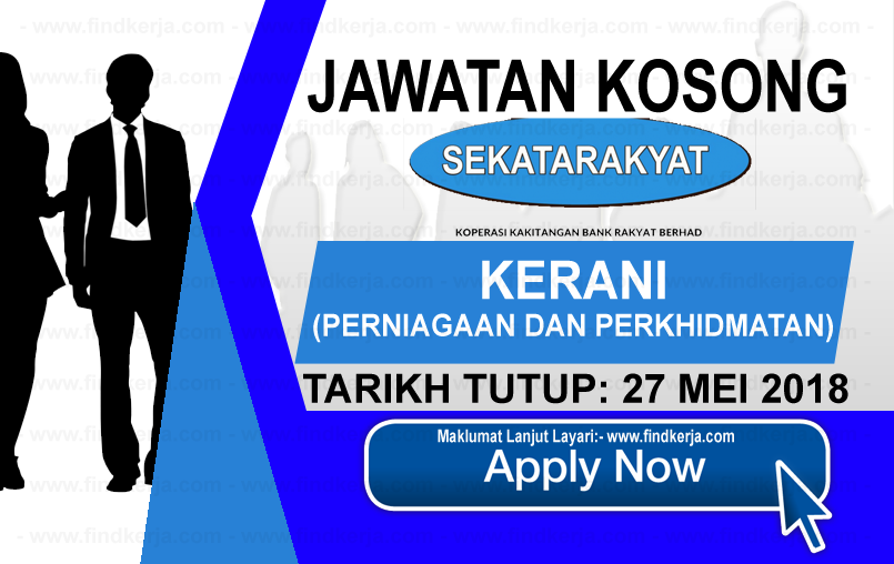 Jawatan Kerja Kosong Koperasi Kakitangan Bank Rakyat logo www.findkerja.com mei 2018