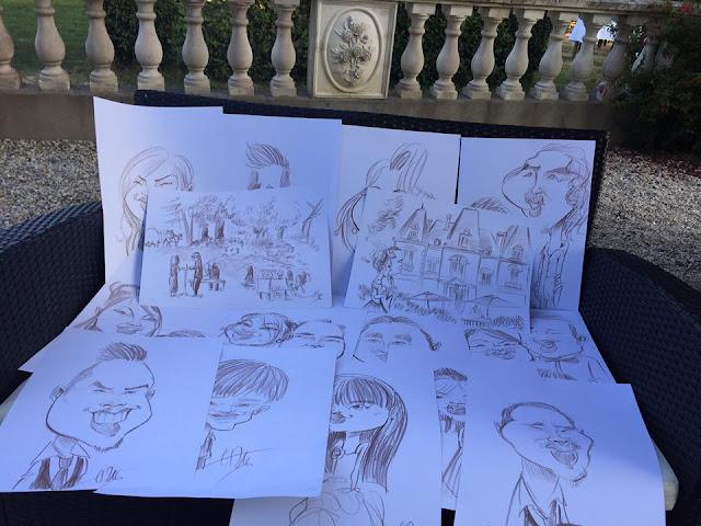 Une toute petite partie de la récolte d'hier... Avec quelques dessins de la cérémonie. ©Guillaume Néel