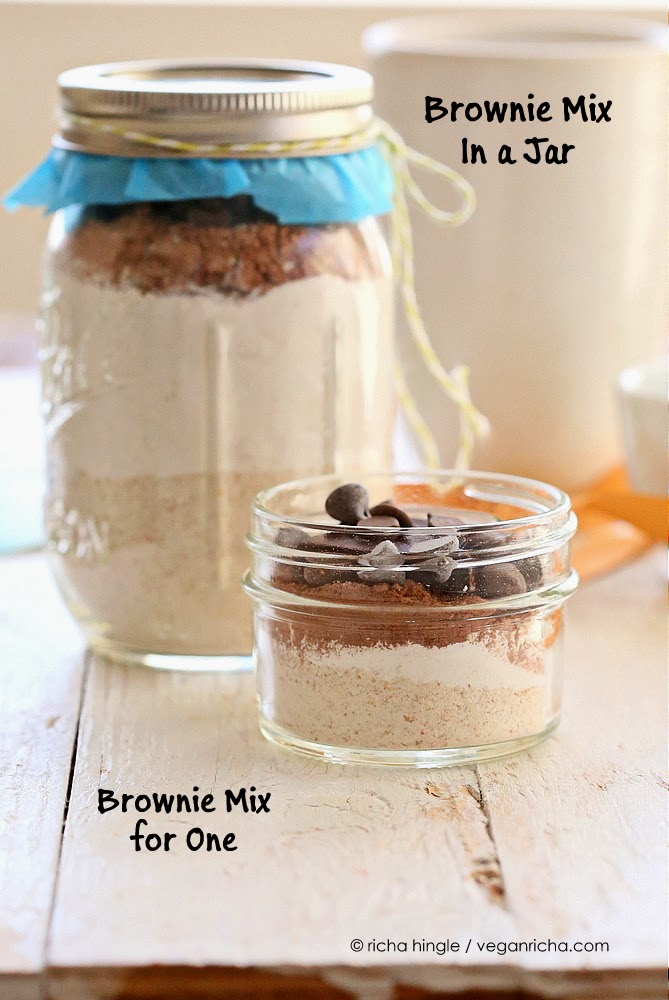 Vegan Brownie Mix In A Jar Single Serve Brownie Too