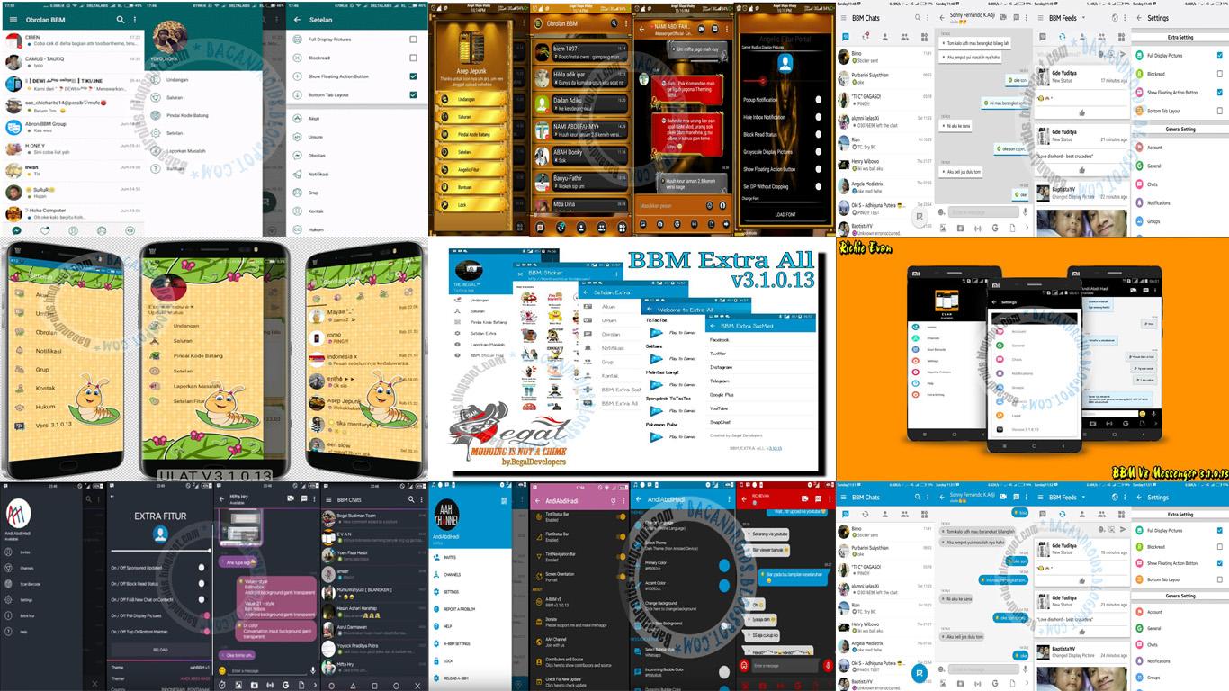 Kumpulan BBM Mod versi 3.1.0.13 Apk Terbaru For ANdroid tema terbaik New Style
