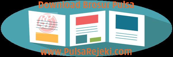 PulsaRejeki.Com Download Contoh Desain Brosur Pulsa PPOB Termurah