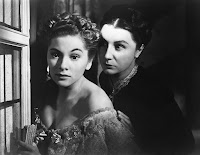 Joan Fontaine and Judith Anderson in Rebecca (1940) (1)