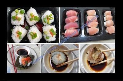 comida japonesa; sushi; frutos do mar; molho shoyo