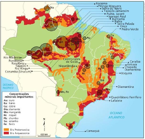 Estrutura Geológica E Recursos Minerais Geografalando