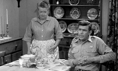 Frances Bavier as Aunt Bee in Shirtwaist Dress in The Andy Griffith Show