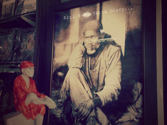A poster of Sai Baba from the markets of Shirdi