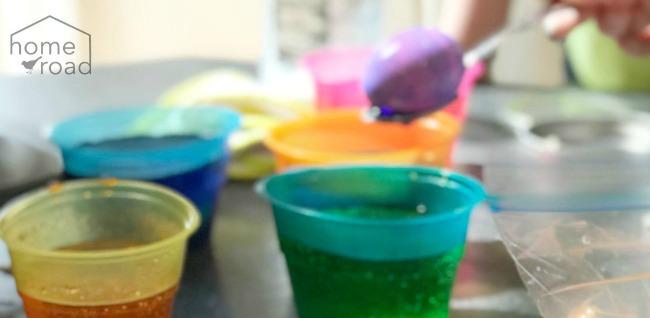 Easter Egg dye in cups