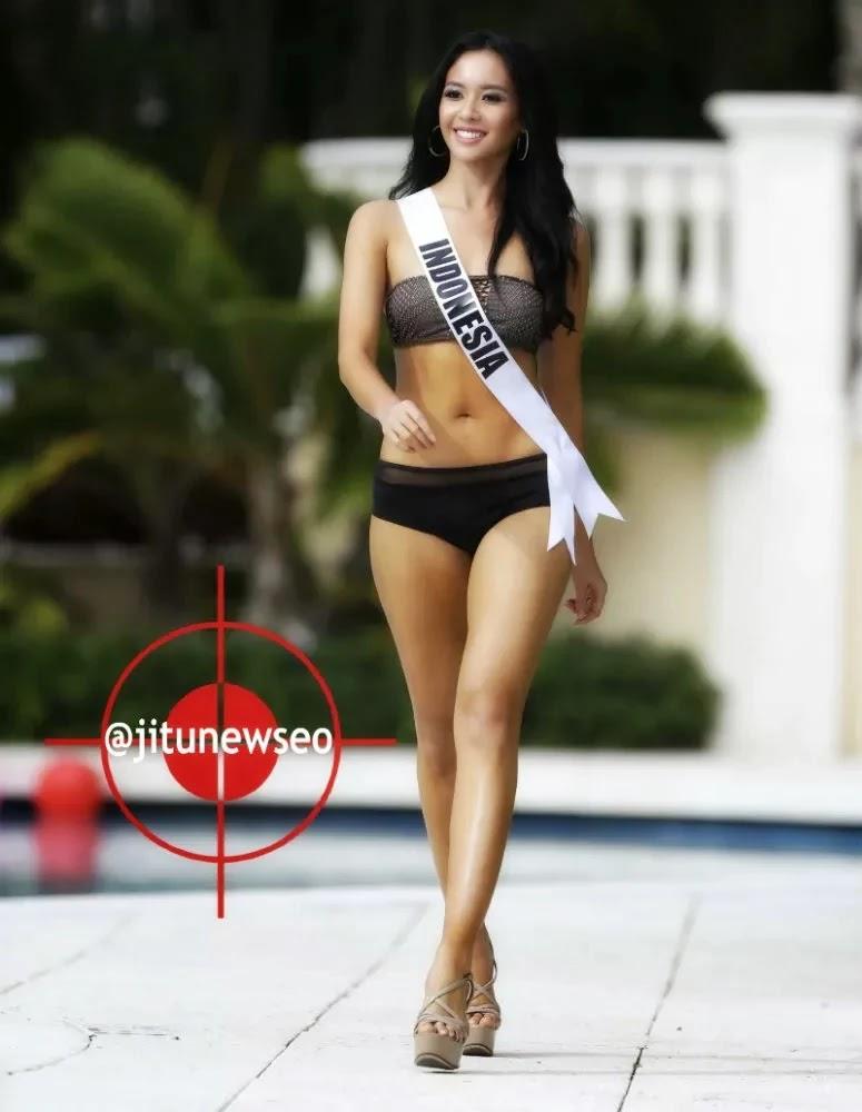 Cantiknya Putri Indonesia Dalam Swimsuit Two Pieces