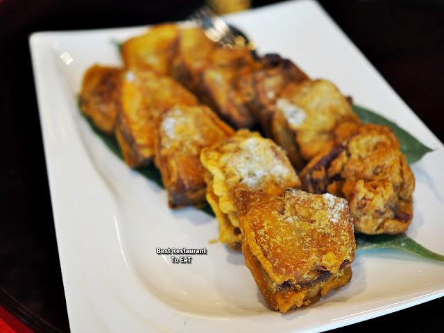 CHINESE NEW YEAR 2020 Menu - Deep Fried Ning Gao Stuffed With Yam And Sweet Potato
