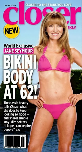 Jane Seymour, bikini, Closer magazine, Whorrified,