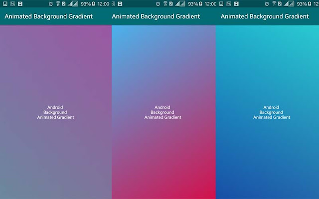 Animated Gradient Background in Android