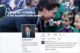 14 murdered Gurkhas - Justin Trudeau Tweets