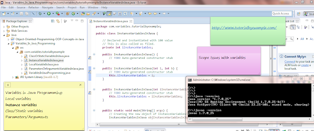 About Instance Variable In Java Programming With Code Example Sample And Tutorial