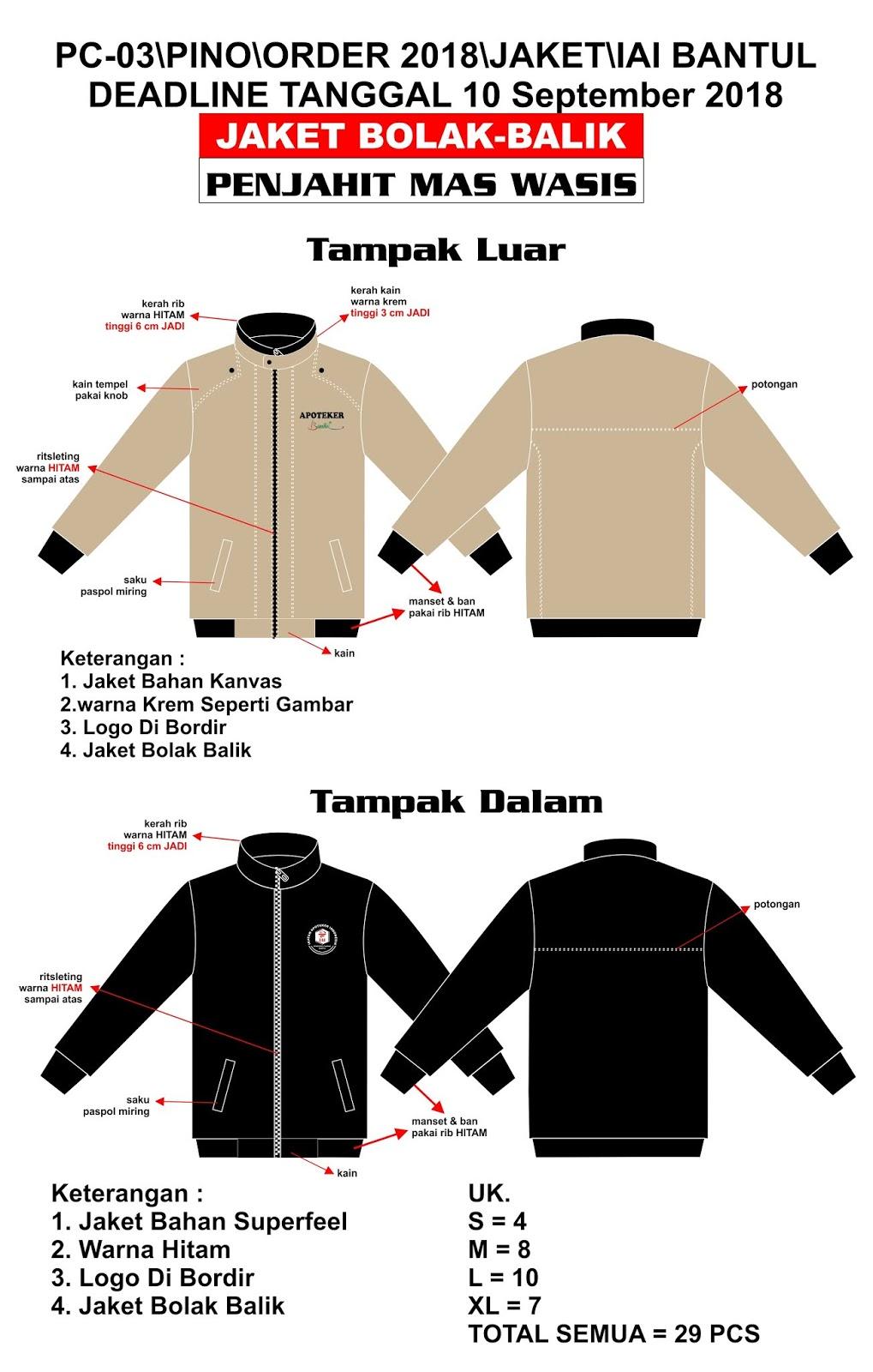 500 Desain Jaket Bolak Balik Gratis Terbaru